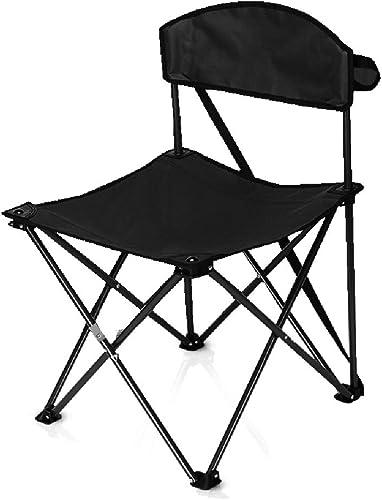 Chaise De Camping Pliante pour Extérieur Support en Acier Stable Et Stable Tapis Antidérapant Randonnée Pêche Oxford Chaise en Tissu