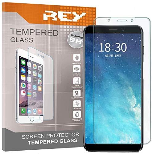 REY 3X Protector de Pantalla para MEIZU M6s, Cristal Vidrio Templado Premium