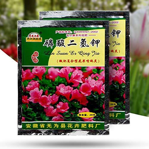 pengyu-Potiumdihydrogenphosphat-Dünger, 2 Beutel à 40 g, für Blumen, Gemüse, Pflanzen, Kaliumdihydrogenphosphat, kann in jeder Bodenumgebung überleben