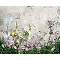 xueshao 3D壁紙高品質ハンド塗装Hd花植物絵画リビングルームの背景壁紙家の装飾-120X100Cm