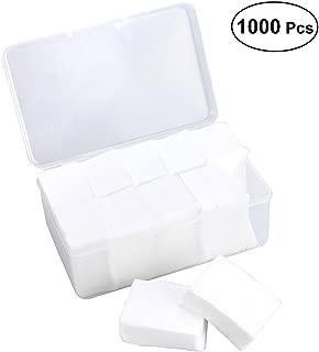 Frcolor 1000 counts Makeup Facial Soft Cotton Pads for Applying Lotion Removing Face Makeup Eye Makeup and Nail Polish