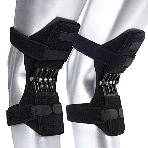 Rodilleras de apoyo para las articulaciones, correa de la rótula de la rodilla, fuerza de resorte de levantamiento de potencia, almohadilla para la banda de la abrazadera del tendón para artritis (A)