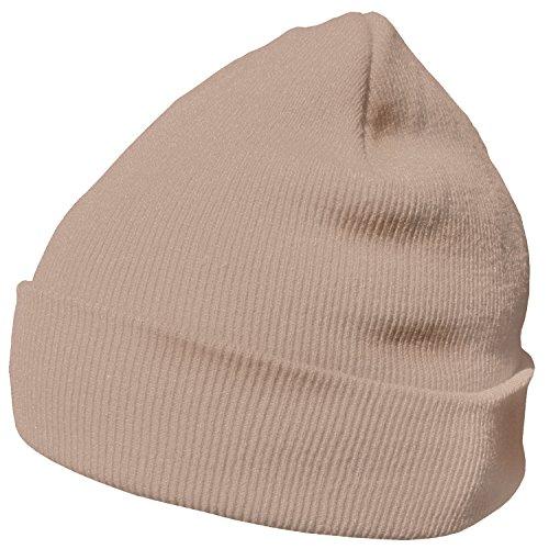 DonDon Bonnet Beanie pour l'hiver avec design classique et moderne Beige - Taille unique