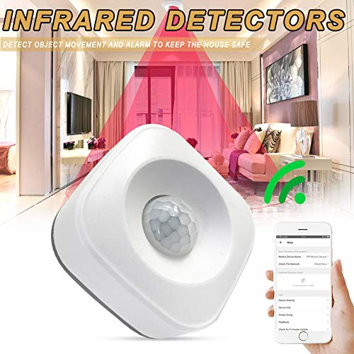 Gizayen Smart Wireless PIR Motion Sensor Detector Compatible for Google Home Smart Home Alexa Echo