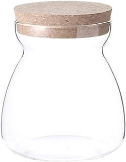 Bouteilles en verre avec Clear Bouchonnières Fioles Conteneurs, Cuisine Épices Sucre Container Recevoir Organisateur, l'al...