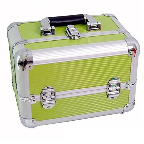 DYNASUN BS355 29x21x20cm XXL Grün Designer Beautycase Schminkkoffer Kosmetikkoffer Schmuckfach Beauty Case Reise Box