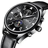 luckyco - Reloj de Pulsera para Hombre, Digital, automático, automático, mecánico, 6 Pines, Estrella a través de la Parte Inferior de Negocios
