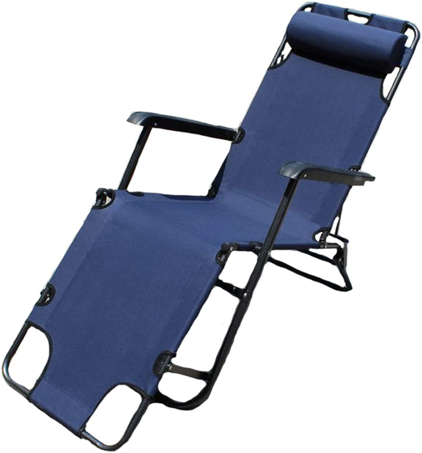 Folding Lounge Chair with Portable, High Quality Aluminum Alloy Bracket, Beach Essential (Navy, Including Storage Bag)