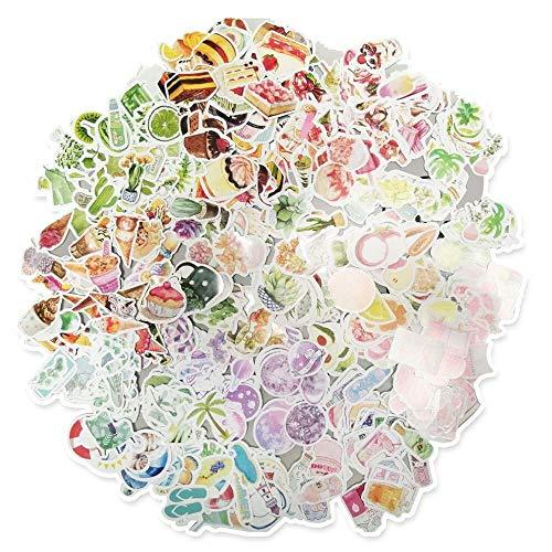250 pegatinas para scrapbooking en diferentes patrones, pegatinas para decoración marina, hojas de flores, pegatinas para álbum de recortes, calendario, libro