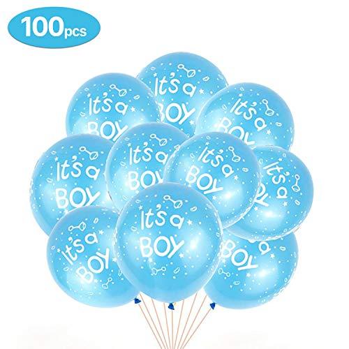 GREMAG Junge und Mädchen Luftballons, Geschlecht offenbaren Partyausrüstung Luftballons mit Konfetti - neugeborenes Foto Banner Stand Requisiten - Dekoration für Baby-Dusche Geburtstagsparty