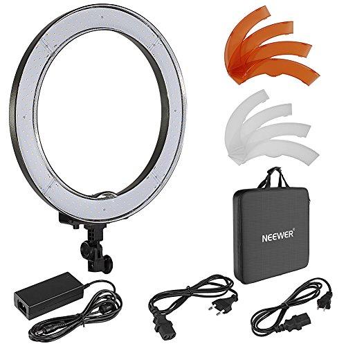 Neewer 55W LED Anillo de Luz de 48cm para Cámara de Fotos, Retrato y Vídeo Iluminación, 240 Piezas SMD LED 5500K