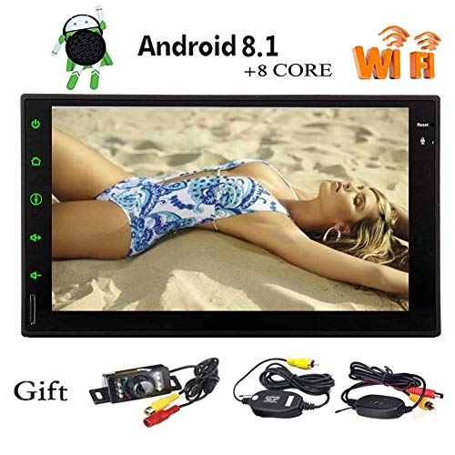 7 pouces Android 8.1 Octa de base Syst¨¨me universel ¨¤ double 2 din Bluetooth Headunit Dans Autoradio Dash Multi-touch Support ¨¦cran GPS Navigation Boutons Multi Color 1080P SD USB avec cam¨¦ra lib