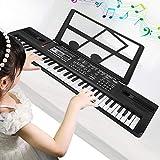 Cocoarm 61 Teclas Teclado Digital Piano Principiantes música de Piano Digital órgano electrónico Teclado portátil con micrófono para niños