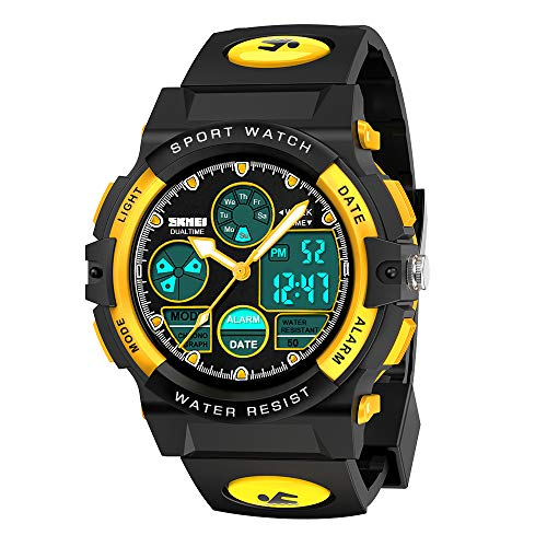 SOKY Cool Toys for 6-15 Year Old Boys, Watches for Kids 8-12 Waterproof Sports Digital Watches Gifts for Teen Boys Birthday Christmas Gifts for 6-11 Year Old Girls Stocking Fillers for Kids Yellow