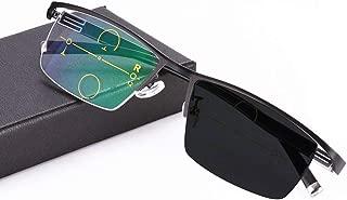 Eyetary Reading Glasses Progressive Multifocal Photochromic Sunglasses, Aspheric No line Bifocal Lens Outdoor Readers for UV400 /Anti Glare/in Reading Magnification 1.00 to 3.00 Strength,Black,+2.75