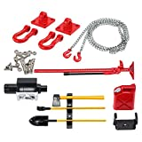 MagiDeal RC Crawler 1/10 Réservoir de Carburant Treuil Kit d'outils avec chaîne de Crochet de remorquage pour Axial SCX10 CC01