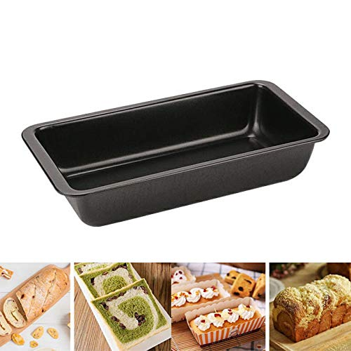 PsgWXL Bread Tin Loaf Tins Non-Stick Loaf Baking Pans, Cake Pan, Bread Loaf Pans for Cake, Bread, Meatloaf and Quiche DIY Baking Cases Heat Resisitant,Black