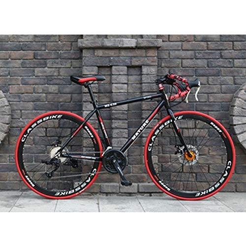 Bike Double Disc Freno a Disco 700C velocità variabile □□ 33 velocità □□ Bicicletta da 27 Pollici da 27 Pollici Bicicletta da 27 Pollici MZ-C30 Bici da Strada in Lega di Alluminio (Articoli Sportivi)