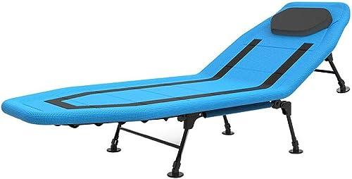 Baoffs Lit Portable Pliant Dossier réglable à 5 Vitesses Lit Pliant Déjeuner Simple Chaise de Bureau Simple Lits Siesta pour Adulte Lit de Camping Solide et Stable