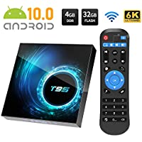 Android TV Box, T95 Android 10.0 TV Box 4GB RAM/32GB ROM Allwinnner H616 Quad-Core Support 2.4Ghz WiFi 6K HDMI Smart TV Box