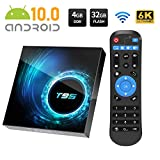 Android TV Box, T95 Android 10.0 TV Box 4GB RAM/32GB ROM Allwinnner H616 Quad-Core Unterstützung 2.4GHz/5.0GHz WiFi 6K HDMI Smart TV Box