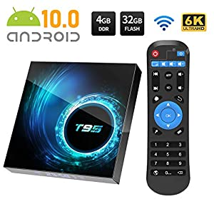 Android TV Box, Android 10.0 TV Box 4GB RAM/32GB ROM Allwinnner H616 Quad-Core Support 2.4Ghz WiFi 6K HDMI Smart TV Box