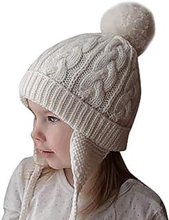 Bebés niñas niños Orejeras Calientes Sombreros de Punto para niños Gorra