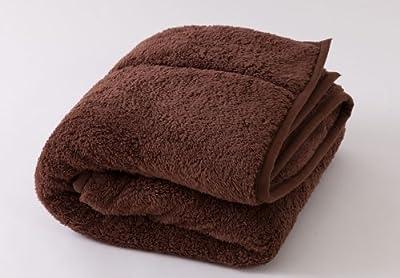 Heat Warm (ヒートウォーム) 毛布 発熱 あったか2枚合わせ シングル ブラウン 40220106