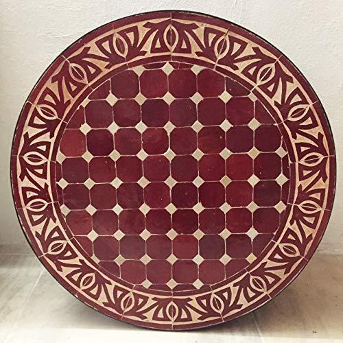L 'Orient marroquí mosaico mesa marrón 60cm | König Ciudad Fes gefertigt...