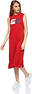 Tommy Hilfiger A-line dress for girls in Red, Size:XL