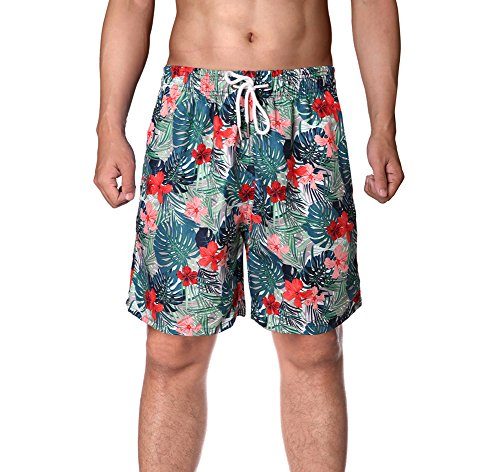 WENER Men's Short Swim Trunks,Best Board Shorts for Sports Running Swimming Beach Surfing,Quick Dry Breathable Mesh Lining