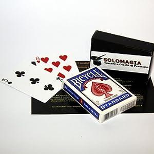 SOLOMAGIA Mazzo di Carte Bicycle Gaff Cards - Doppia Faccia - Mazzi speciali