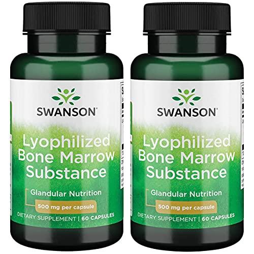 swanson premium bone supplements Swanson Raw Lyophilized Bone Marrow Substance 500 Milligrams 60 Capsules (2 Pack)