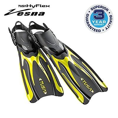 TUSA SF-0101 Hyflex Vesna Scuba Diving Fins, Large, Flash Yellow