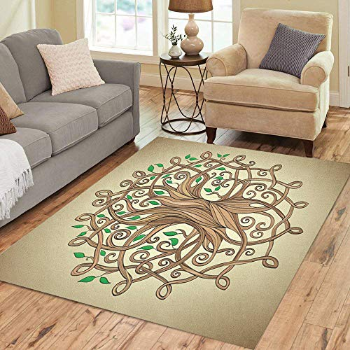 Pinbeam Area Rug Amazing Tree of Life in The Pattern Home Decor Floor Rug 3' x 5' Carpet