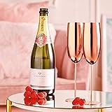 Beautify Sektgläser Champagnerflöten/Gläser Kupfer 2 Stück - Bruchsicherer Edelstahl Sektkelche - 4