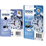 Epson C13T27114022 - Cartucho de Tinta, XL, Color Negro + 27 DURABrite Ultra - Cartucho de Tinta para impresoras (Cian, Magenta, Amarillo, WF 36xx / 7110 / 76xx)