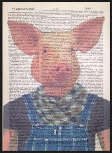 Parksmoonprints Affiche de dictionnaire vintage Motif cochon