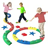 Artoflifer Kids Indoor and Outdoor Balance Beam Balance Blocks Gym Toys for Kids Promote Balance, Strength, Coordination Toddler Obstacle Course Floor Games for Kids Preschool Learning Toy 8 Pieces