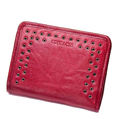 GHYDDC kleine lederen portemonnee voor vrouwen, met sleuven Multi compartiment kleine dames portemonnee met rits munt zak Women'S Credit Card houder Mini Bifold Pocket portemonnee