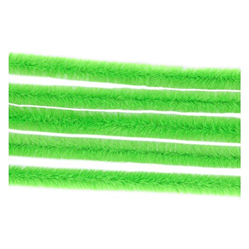 Fil chenille - fil cure pipe Vert clair Ø 6mm - 30cm - 50pcs