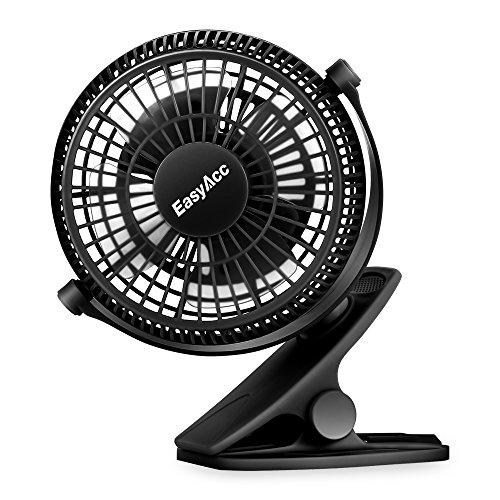 EasyAcc Ventilatore Clip,Ventilatore da Tavolo USB con Cavo Potente Rotazione di 720° 2 velocità Portatile Silenzioso Ventola Scrivania per Casa,Ufficio,Letto,Passeggino,Tende