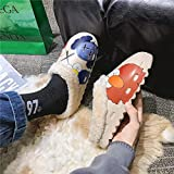 ypyrhh Zapatos de piel sintética de interior, zapatillas de algodón de suela suave, zapatillas de interior cálidas - Beige a_41, acogedor Coral Fleece Slip-on Casa Zapatos con Anti