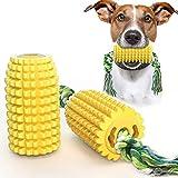 WEIMIN Jouets à mâcher pour chiens - Jouet pour chien en maïs résistant aux morsures - Corde à mâcher solide - Pour le nettoyage des dents - Soin dentaire - Bicarbonate de soude infusé