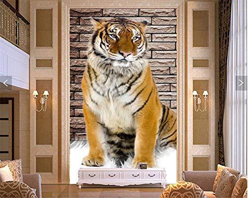 3D Wallpaper Wall Fresco Wallpubs 3D Stereo Tijger Photo Vaas Woonkamer Aisle Wanddecoratie Schilderij Wallpaper voor Muren 3 D 350×245cm