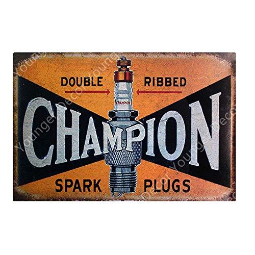 Yycsqy IJzeren schilderij tinnen metaal schilderij vintage metaal wandkunst metalen platen plak bougies Pub Bar Club garage decoratie auto banden metalen platen kunstplakkaat 20x30cm Yd2621hJ.