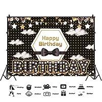 パーティーのお祝い誕生日赤ちゃんブラックボーイ誕生日TieBabyシャワー子休日バプテスマポートレート写真の背景シームレスなパーティー用品背景壁の写真カスタマイズ可能