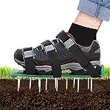 26 Spikes und 3 Schaufeln strapazierf/ähiger Vertikutierer Rasen Nagelschuhe f/ür Rasen oder Hof Rasenl/üfter Schuhe Vogek Rasenbel/üfter mit 8 verstellbaren Riemen