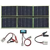 YUANFENGPOWER 300w 12 V pliegue panel solar cargador solar 6 x 50 vatios 20v módulo solar mono con controlador de carga 30A para barco, automóvil, caravana, camping, carga de batería de 12v