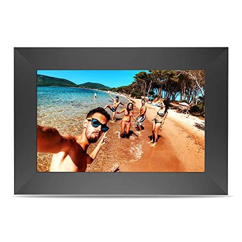 Yuntab 10,1 Zoll SCISHION P100 digitaler Fotorahmen, ChipTrip 1280HD-Chipsatz, 179 ° Betrachtungswinkel (Black)